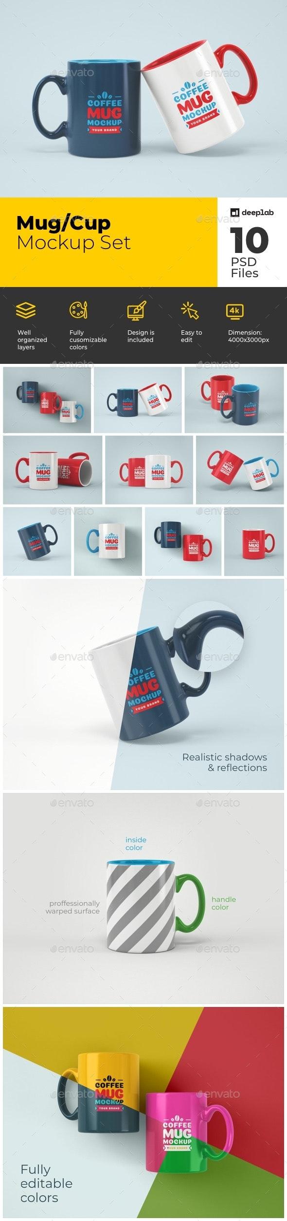 Mug Mockup Set - Product Mock-Ups Graphics
