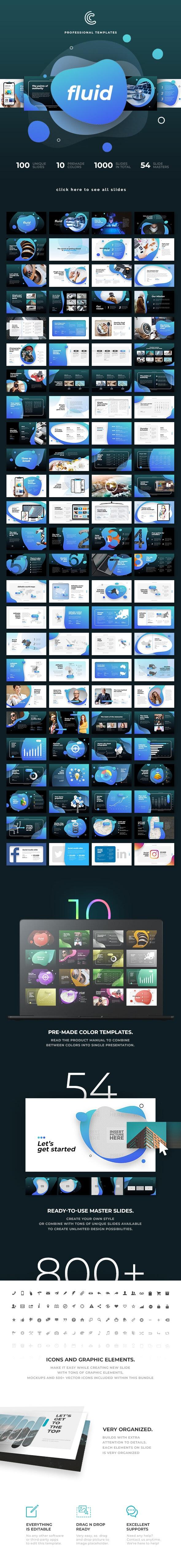 Fluid PowerPoint - PowerPoint Templates Presentation Templates