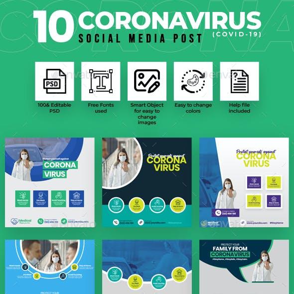 Covid-19 & Coronavirus 10 Social Media Post