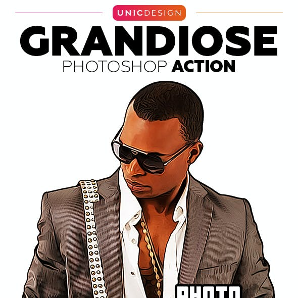Grandiose Photoshop Action