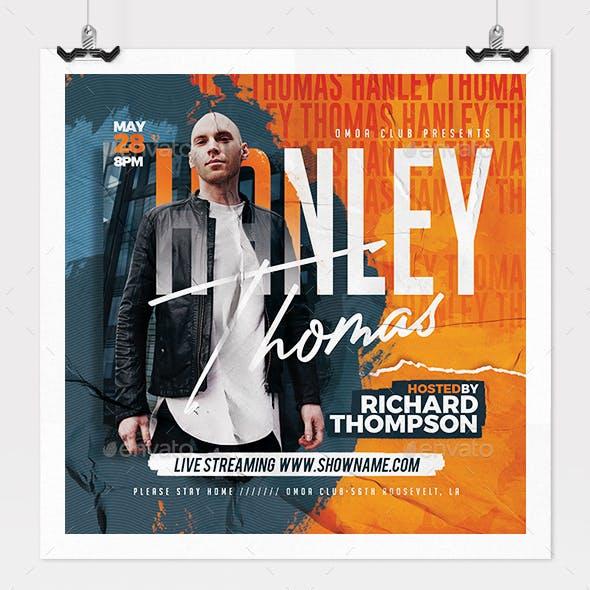 Online Dj Concert Flyer