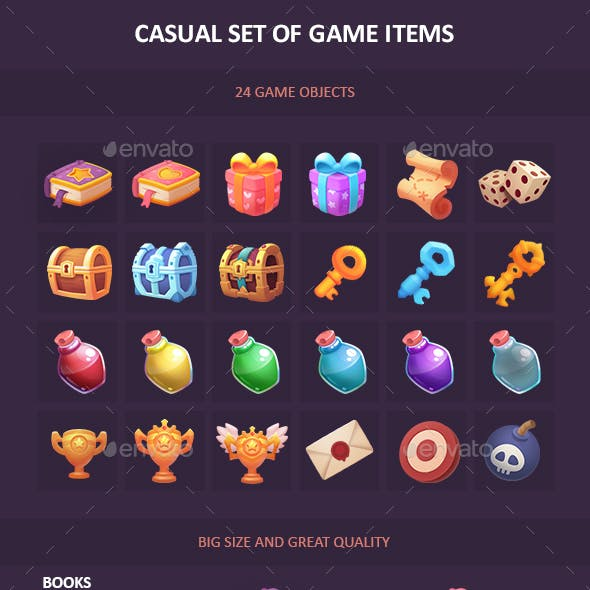 Game Objects for Casual Games Set