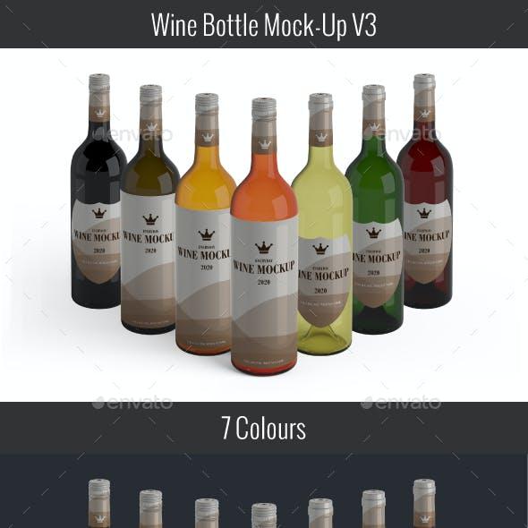 Wine Bottle Mockup V3