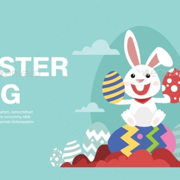 Placeit – Happy Easter Banner Background