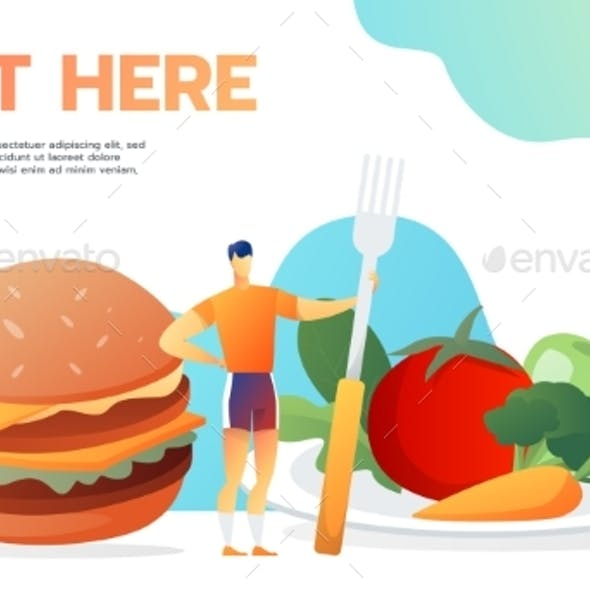Placeit – Useful and Useless Food Man Decide To Eat