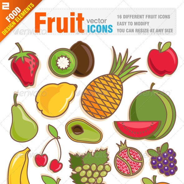 16 Fruit icons