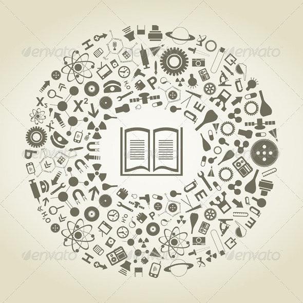Book of sciences - Miscellaneous Vectors