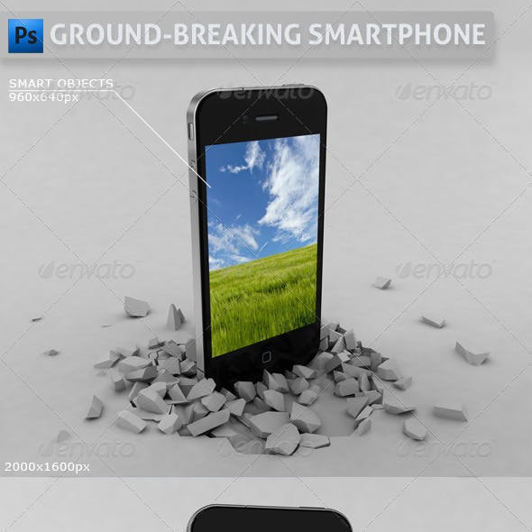 Ground-Breaking Smartphone Mockup