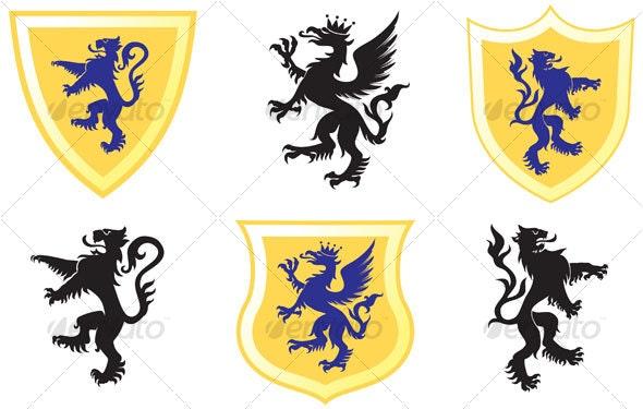 Heraldic designs - Decorative Symbols Decorative