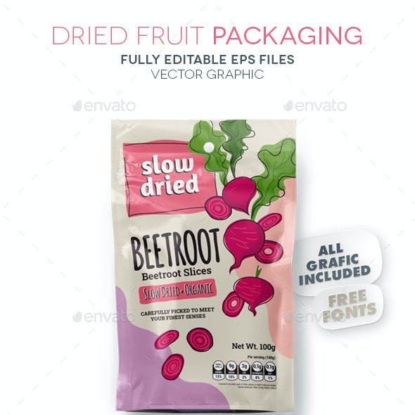 Dried Fruit Packaging / Beetroot
