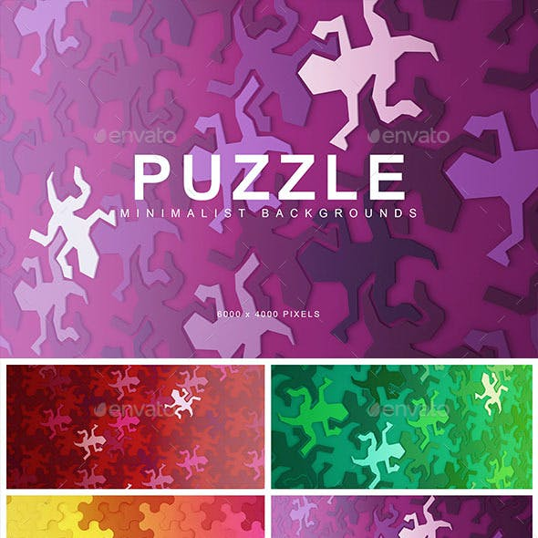 Puzzle Abstract Backgrounds