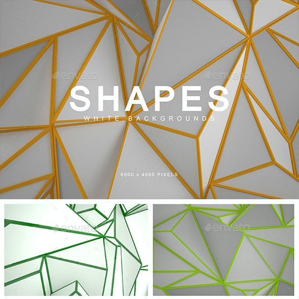 White Shapes Backgrounds