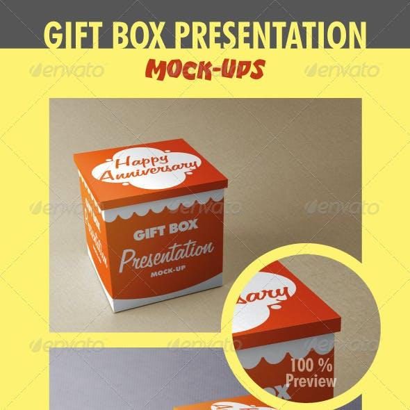 Gift Box Presentation Mock-Ups