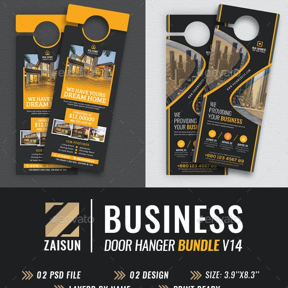 Business Door Hanger Bundle V14