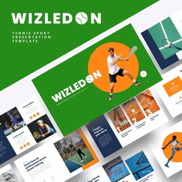 WIZLEDON - Tennis Sport Google Slides Template