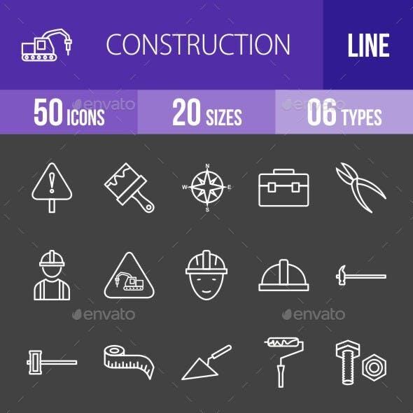 Construction Line Inverted Icons Season II