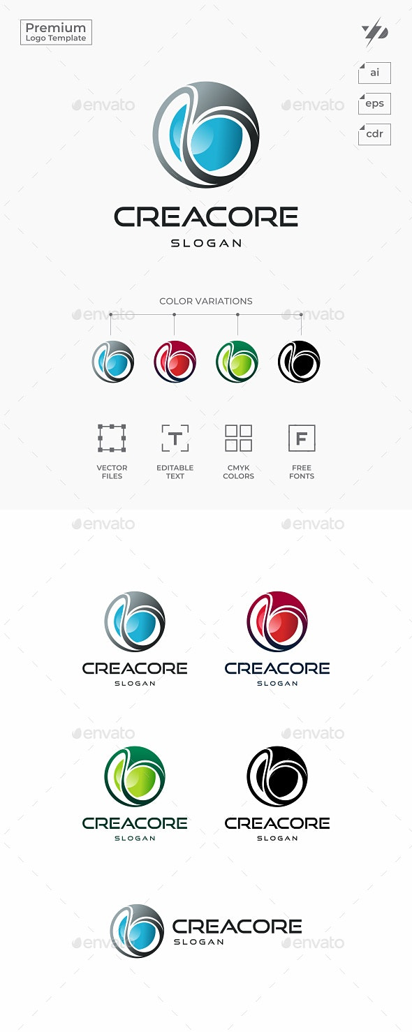 Sphere Core - Abstract Logo Templates