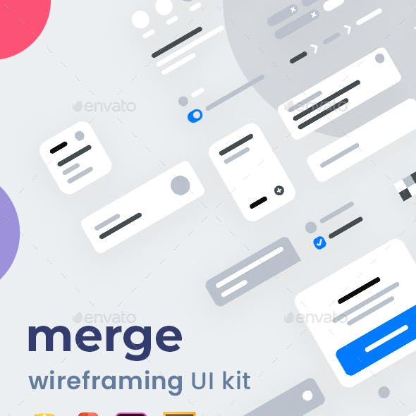 Merge Wireframing UI Kit