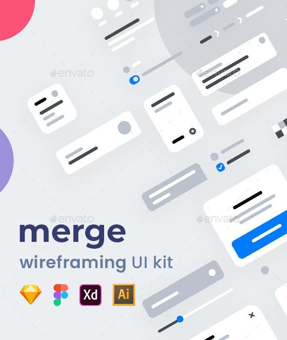 Merge Wireframing UI Kit - User Interfaces Web Elements