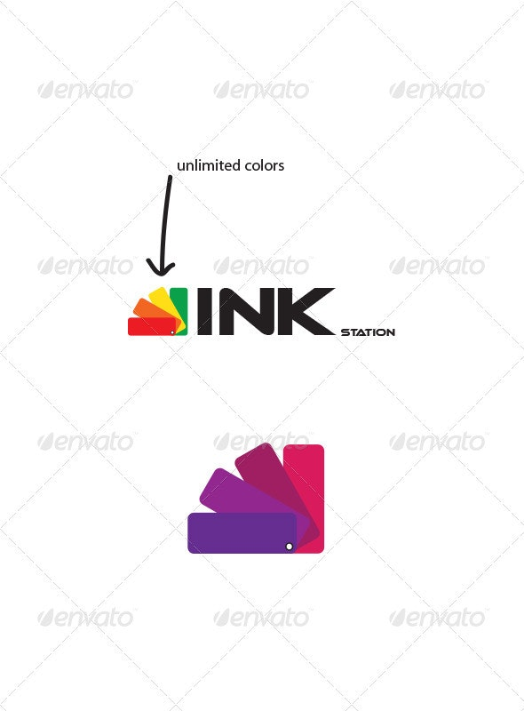 Ink Station Logo - Objects Logo Templates