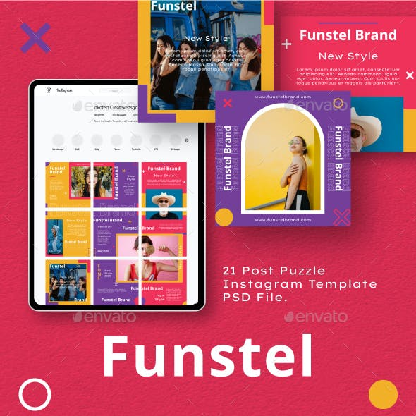 Funstel Puzzle Instagram Feed Template