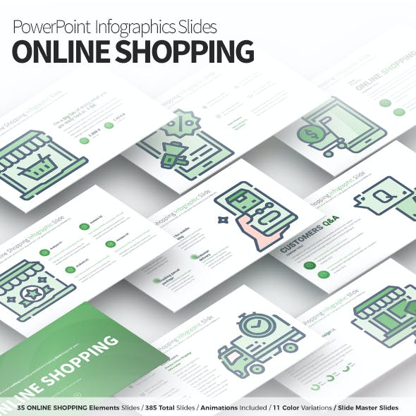 Online Shopping - PowerPoint Infographics Slides