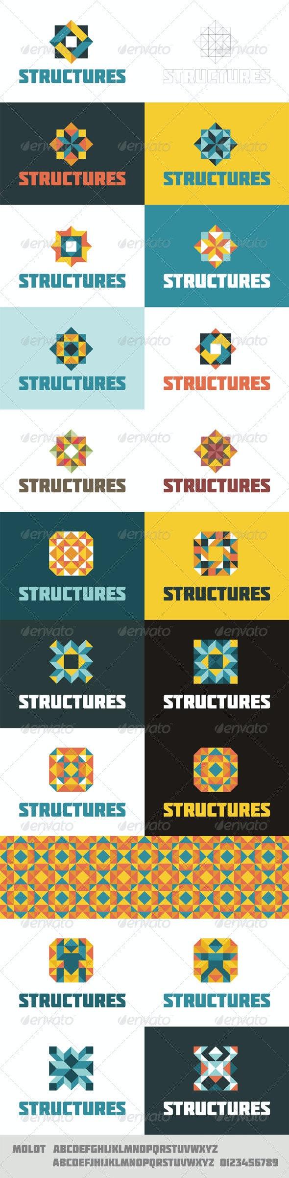 Structures Logo Concept - Abstract Logo Templates