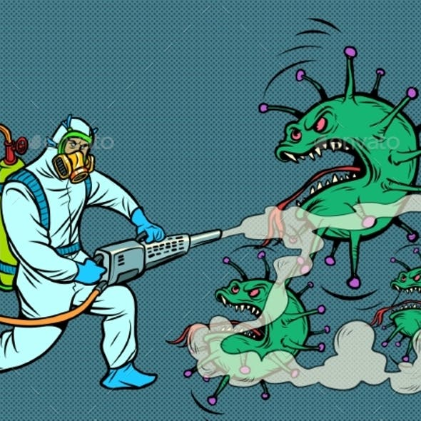 Disinfection Destroys the Covid19 Coronavirus
