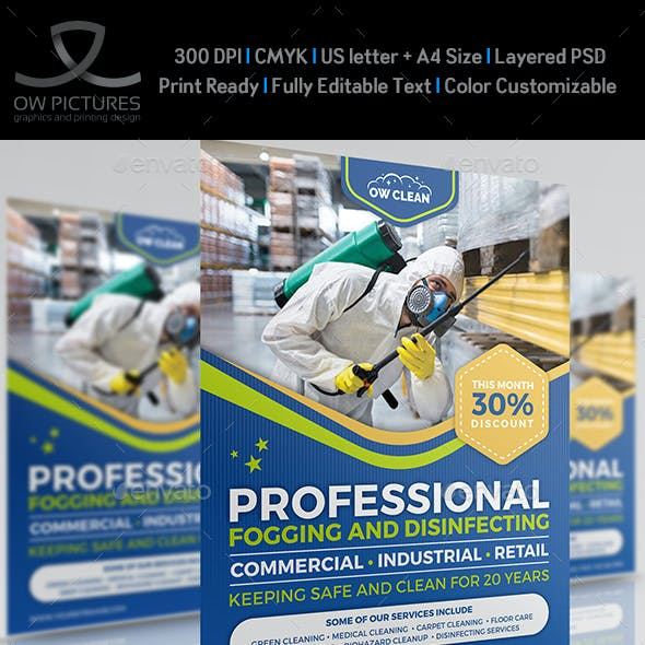 Disinfecting and Cleaning Services Flyer Template