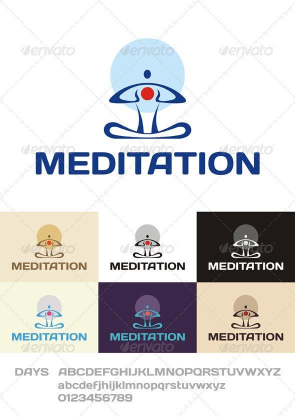 Meditation Logo - Humans Logo Templates