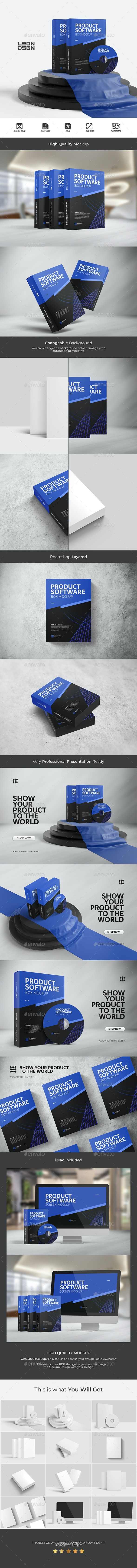 Software Product - Box Mockup