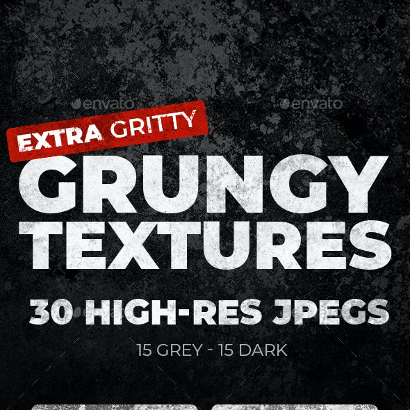 30 Grungy Textures (Dark & Grey)