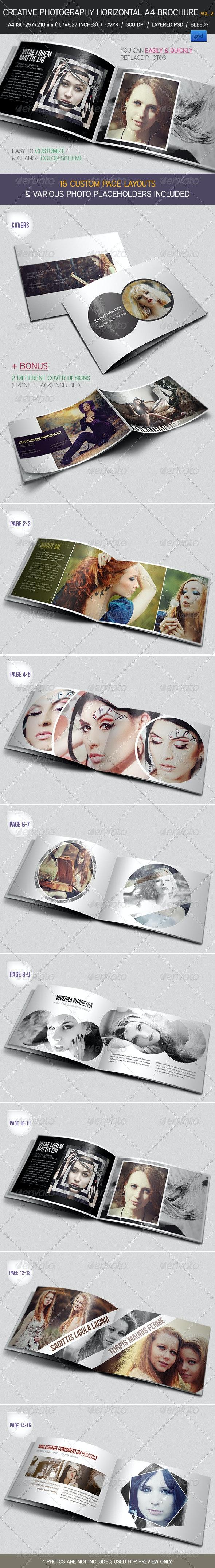 Creative Photography Portfolio A4 Brochure vol. 2 - Portfolio Brochures