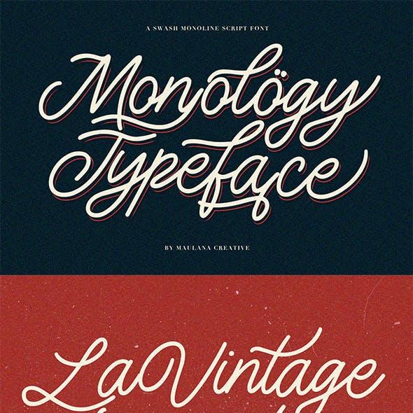 Monology Swash Script Vintage Font