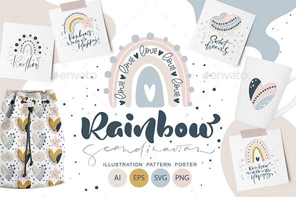 Rainbow scandinavian SVG - Objects Illustrations