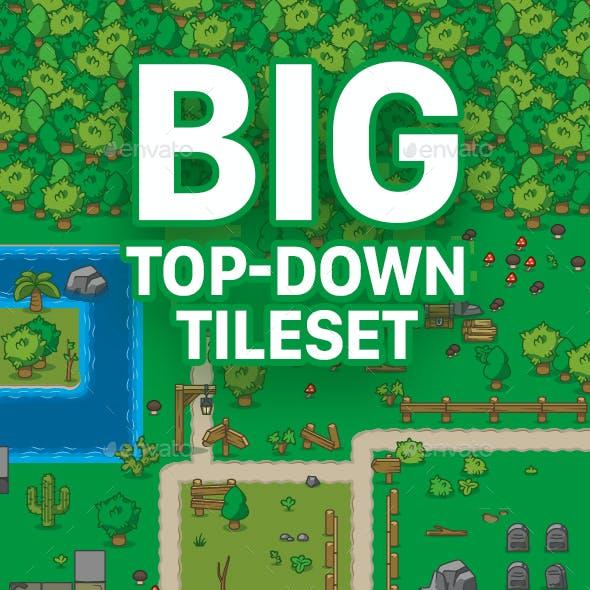 Cartoon Summer Green Top Down Tileset