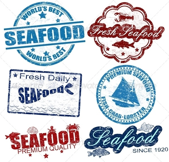 Seafood stamps - Food Objects