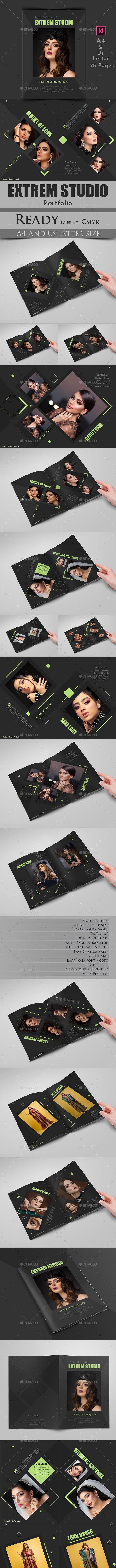 Extrem Studio Portfolio - Photo Albums Print Templates