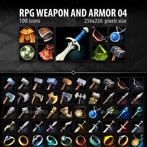 RPG Weapon and Armor 04