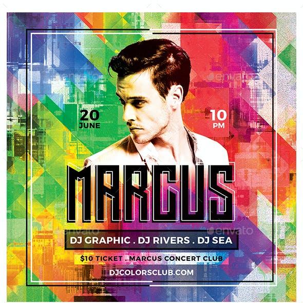 DJ Color Flyer