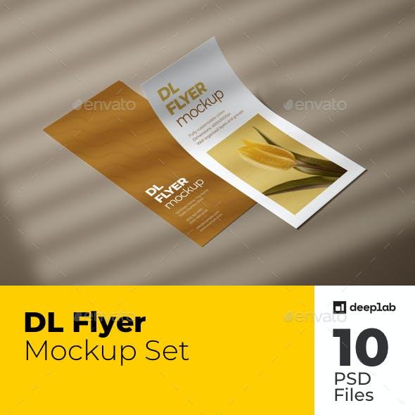 DL Flyer Mockup Set