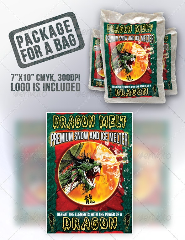 Bag Package Graphics - Packaging Print Templates
