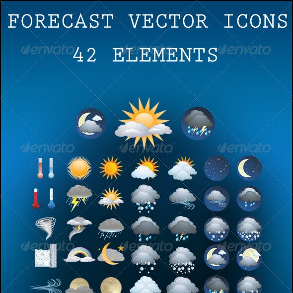 Forecast Vector Icons