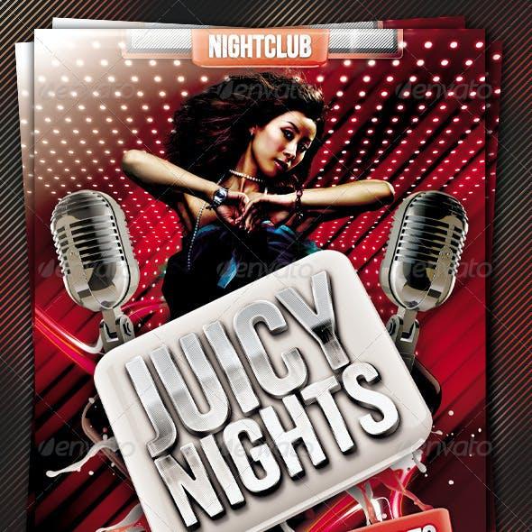 Juicy Nights Flyer Template Vol.4