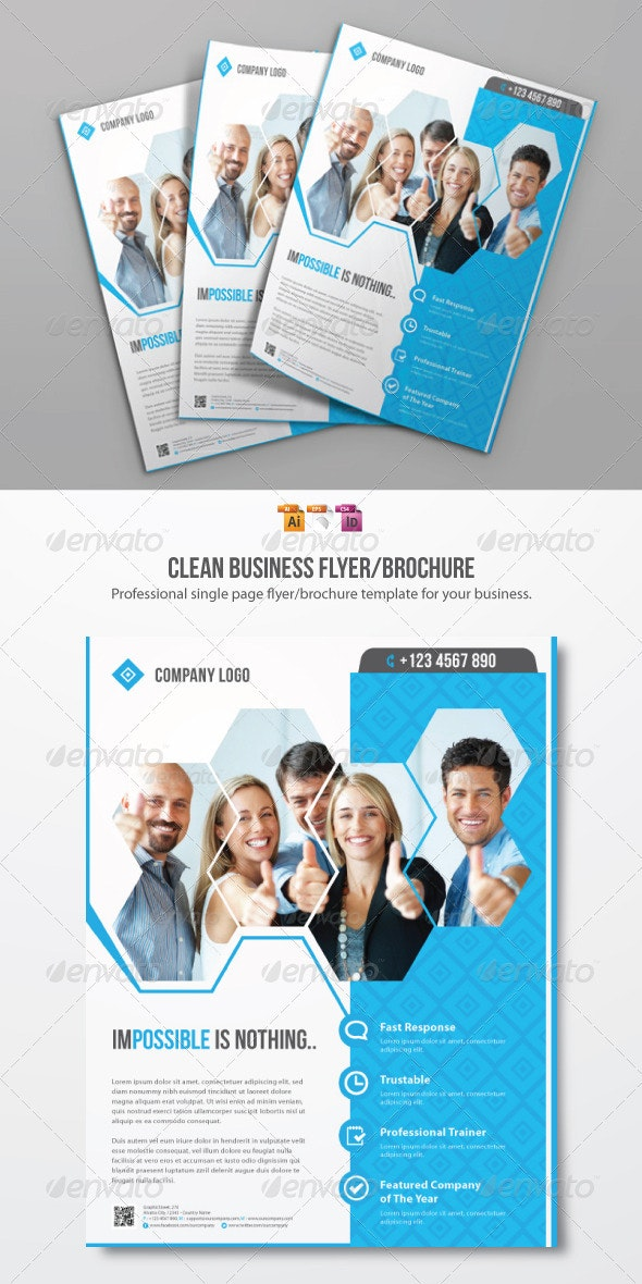Clean Business Flyer Template - Corporate Flyers
