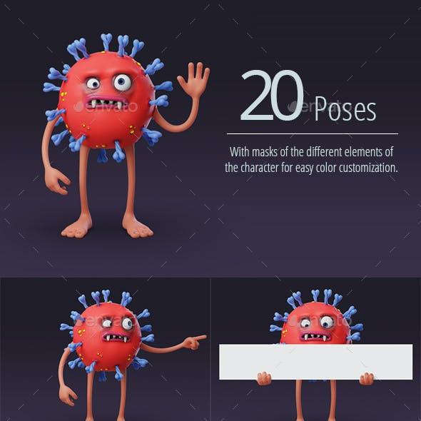 Coronavirus - 3D Character Stills