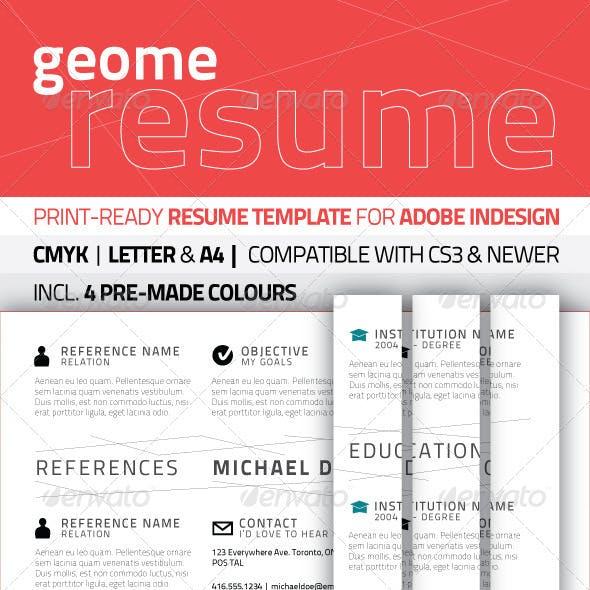 GeoMe Resume Template