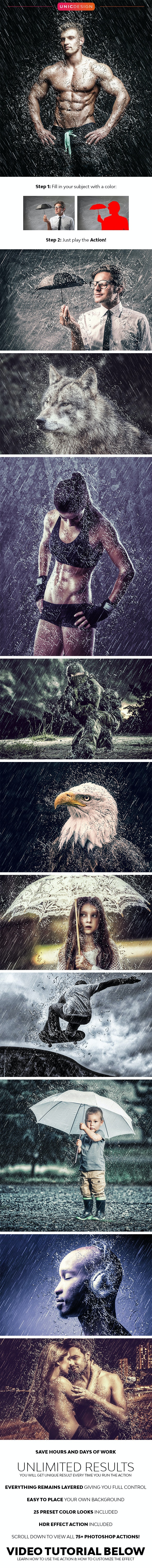 RainStorm Photoshop Action - Photo Effects Actions