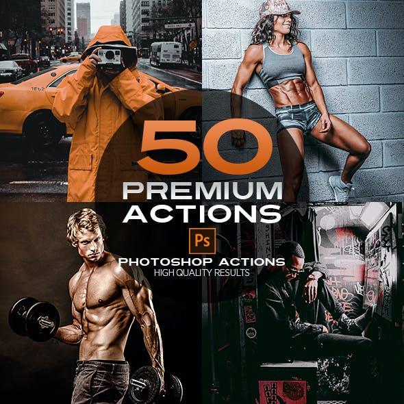 50 Premium Photoshop Actions