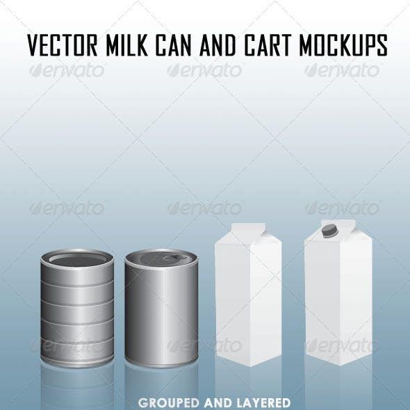 Milk Can and Carton